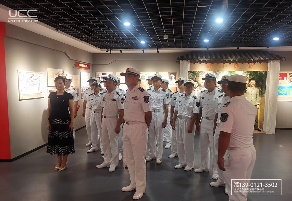 喜迎建军节,海军南海舰队来东海岛东海岛园区党群服务中心参观(图2)